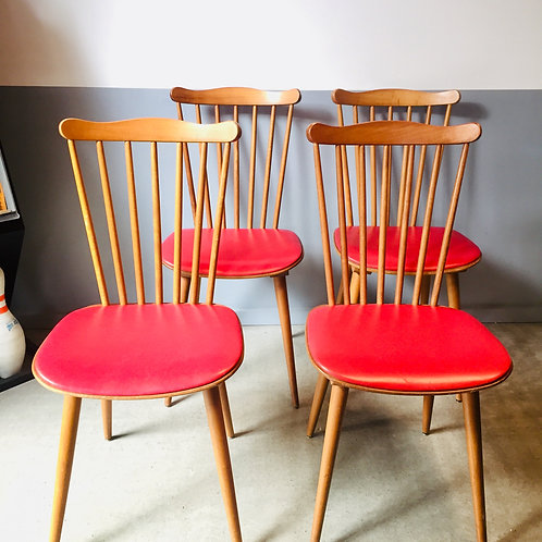 "Série de 4 chaises baumann ""Menuet"""