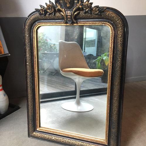 Miroir noir et doré style Louis XV