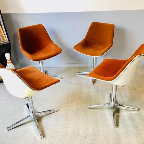 Set de 4 fauteuils L202 pivotants