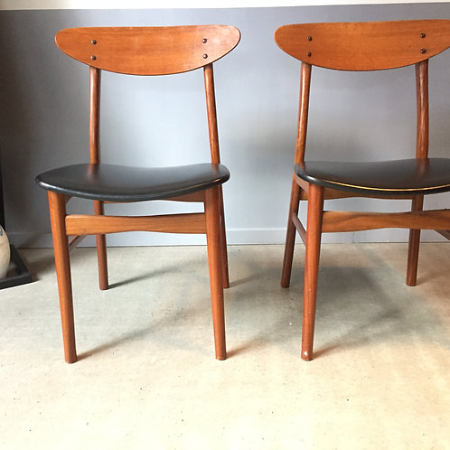 "Duo chaises scandinaves ""Farstrup"""