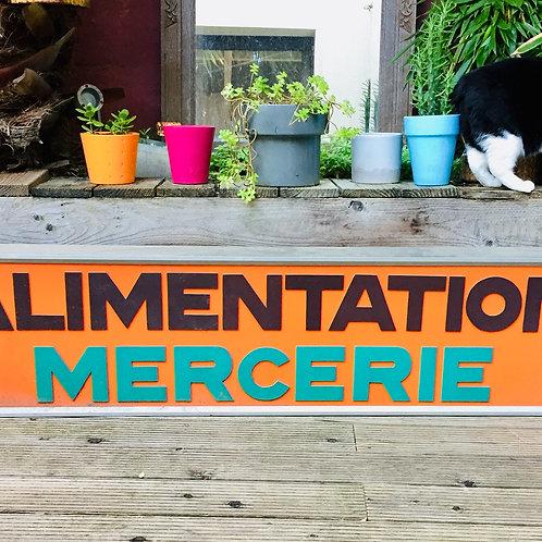 """Enseigne lumineuse """"Alimentation/Mercerie"""""""