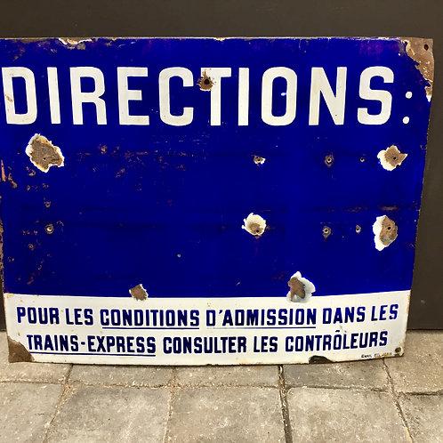 """Plaque émaillée """"Directions"""""""