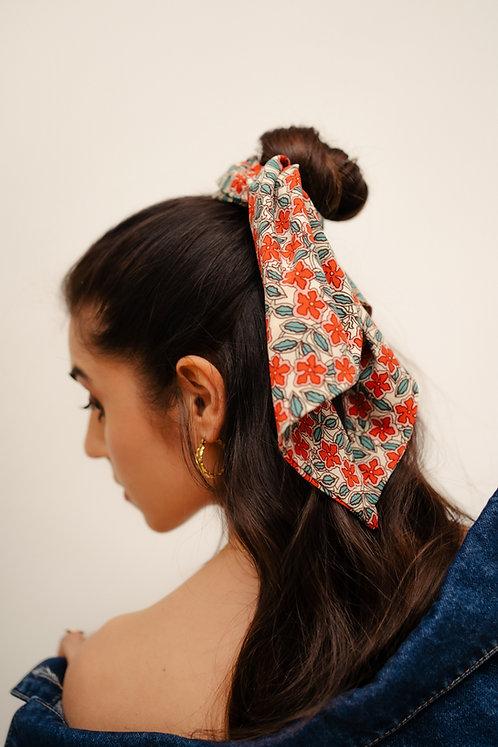 Silk Chifou - Red Floral