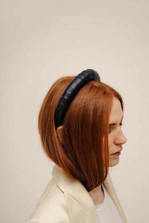 Clara Padded Headband - Blue Navy