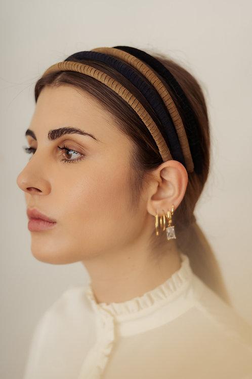 Gaia Slim Headband - Blue navy