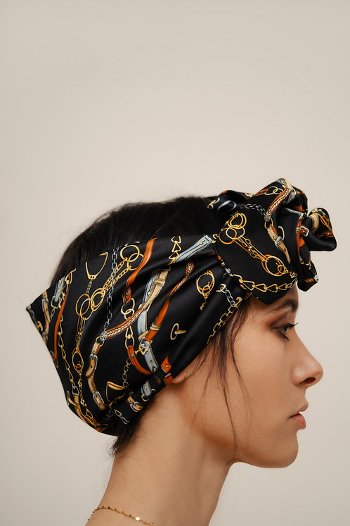 Turban Headband - Black Harness