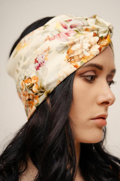 Turban Headband - Cream Floral