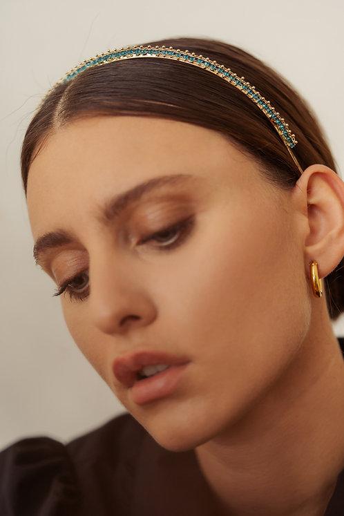 Gold Glory Headband - Turquoise Blue