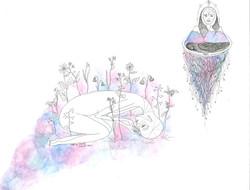"""""""death of myself, flowers bloom"""""""