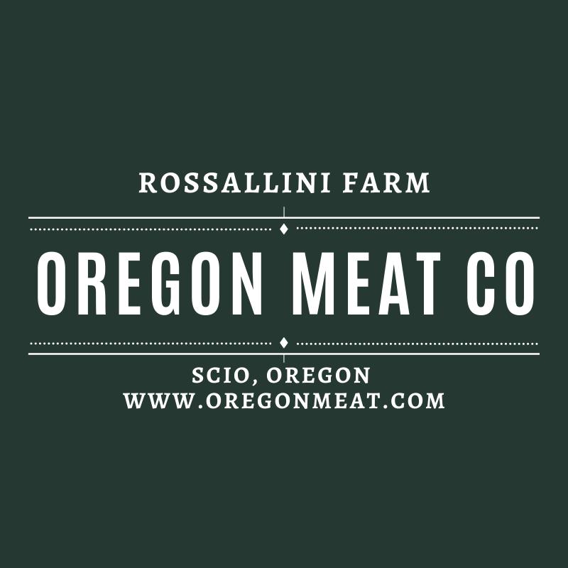 logo Rossallini Farm and Oregon Meat Co