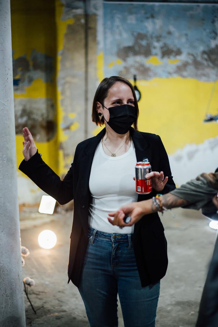 Artist Lea Wülferth at Phase IV art exhibition
