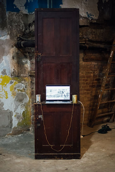 Video station at Phase IV art exhibition