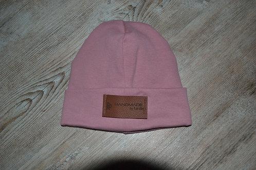 Mütze Feinripp, KU 43-46cm, rosé
