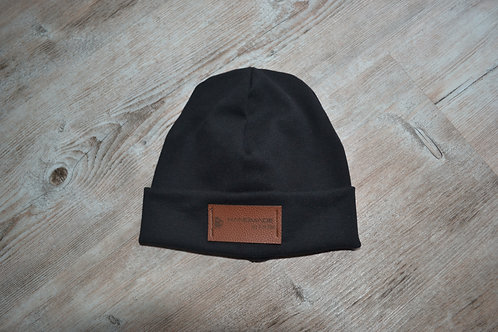 Mütze feinstrick schwarz, KU 43-46cm