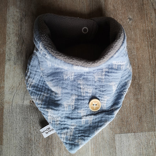 Musselin-Fleece-Tuch mit Druckknöpfen