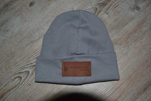 Mütze Feinripp, KU 43-46cm, grau