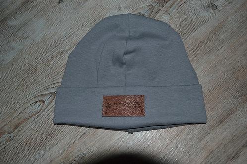 Mütze Feinripp, KU 51-54cm, grau