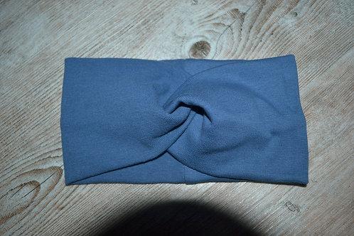 Stirnband/Haarband Feinstrick marine, KU 52-57cm
