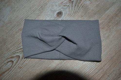 Stirnband/Haarband Feinstrick grau, KU 52-57cm