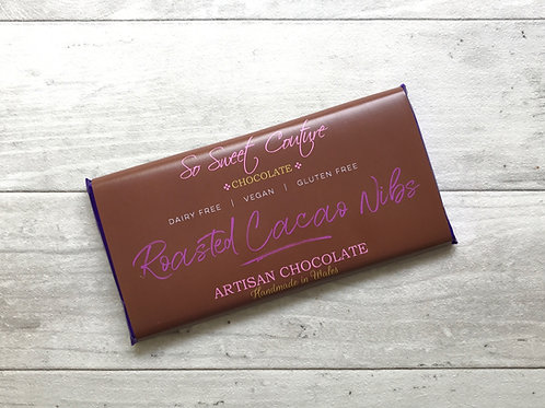 Dairy Free Milk Choc Cacao Nibs Bar