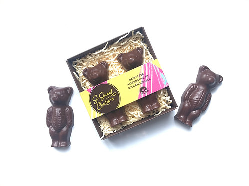Dairy Free Milk Chocolate Teddy Bears
