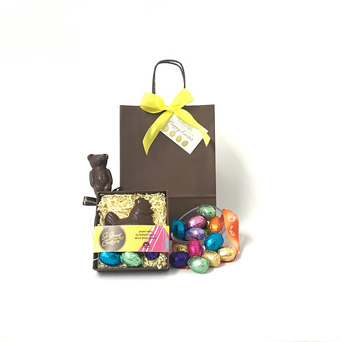 'Happy Easter' Gift Bag with Hen & Eggs