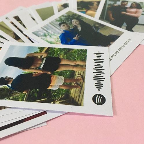 Polaroid com código Spotify