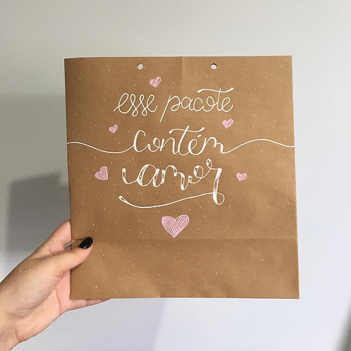 Esse pacote contém amor