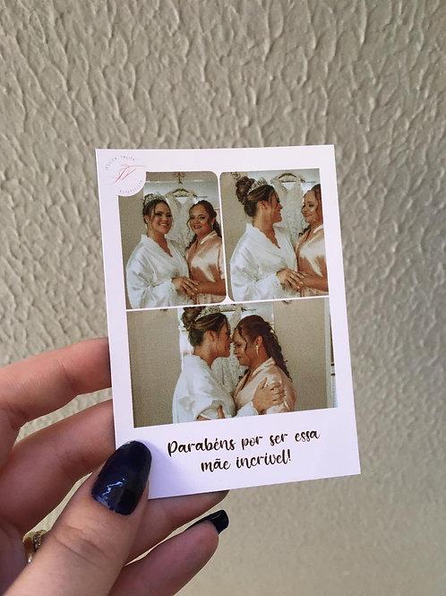Polaroid com frase