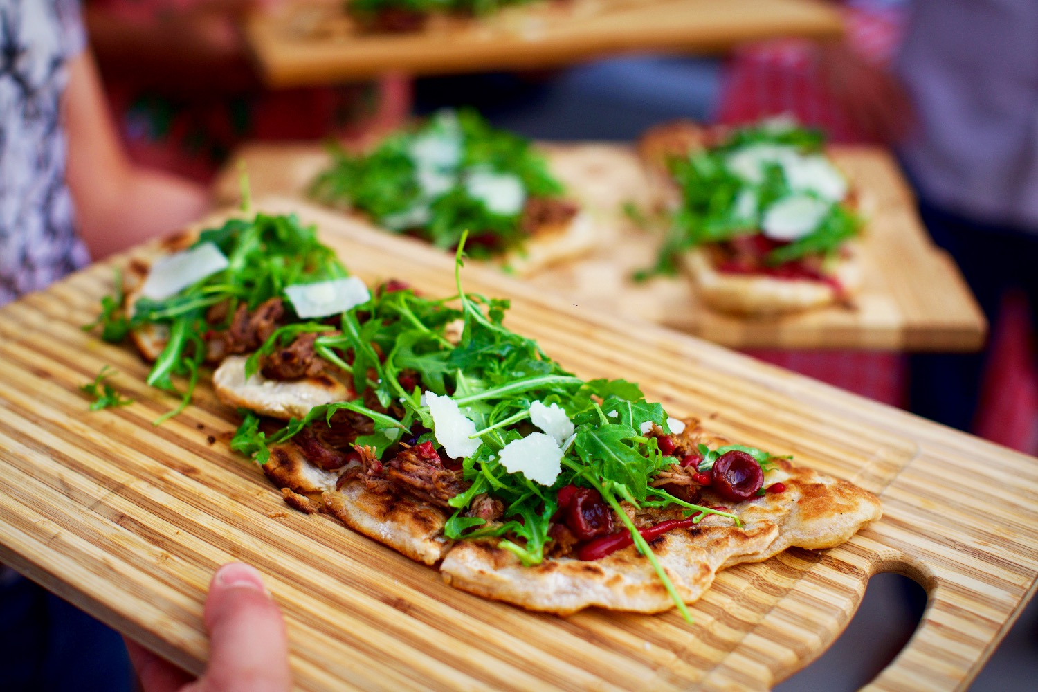 Cherry & Brisket Flatbread