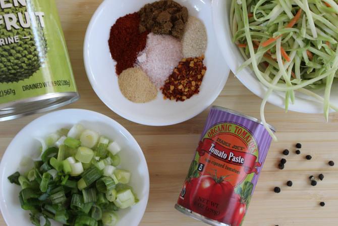 Barbecue Jackfruit Sandwiches with Broccoli Slaw