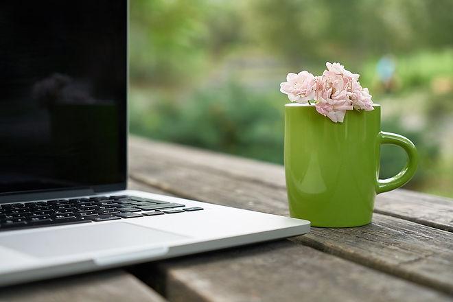 flower laptop image with green mug.jpg