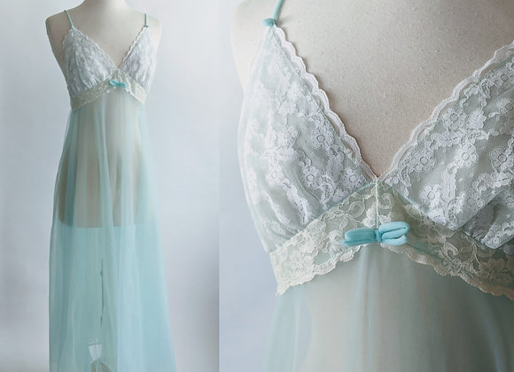1960s sexy sheer full length nightgown M/L