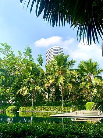 Canapaya Riverfront sunbathing at clubhouse, riverfront condominium, relaxation by chao phraya river
