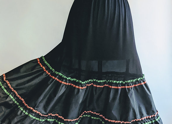 1960s black petticoat Medium