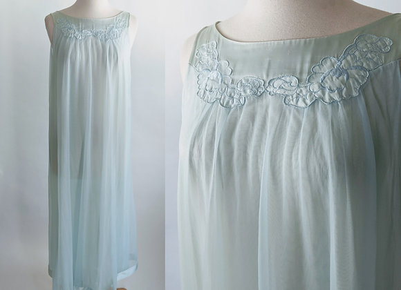 1970s chiffon and Satin Nightgown S/M