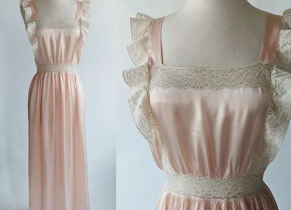 """1930s pinafore style nightgown 34"""" bust"""