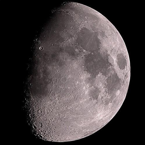 A 50% Illuminated Moon
