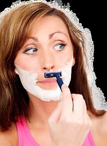 dauerhafte Haarentfernung mit einem Rasierer