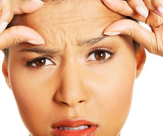 Hautverjüngung der Stirn