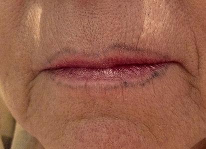 Missratenes Permanent Make-Up