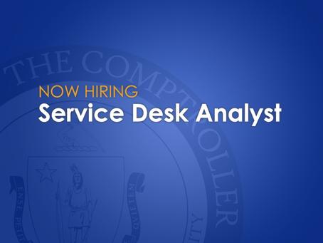 Now Hiring: Service Desk Analyst