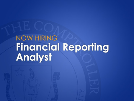 Now Hiring: Financial Reporting Analyst