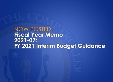 FY2021-07: FY 2021 Interim Budget Guidance