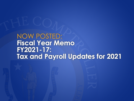 Tax and Payroll Updates for 2021
