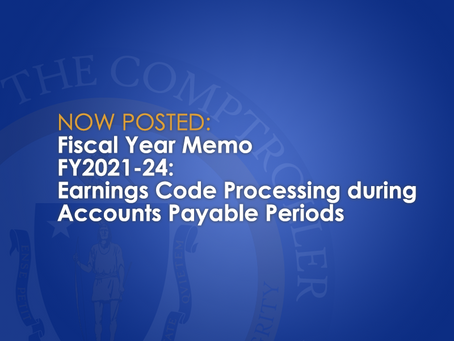 FY2021-24: Earnings Code Processing during Accounts Payable Period