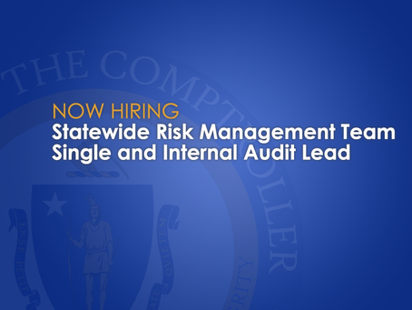 Now Hiring: Statewide Risk Management Team Single and Internal Audit Lead