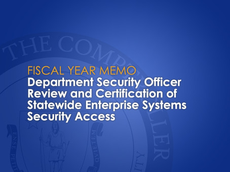 Department Security Officer Memo Posted