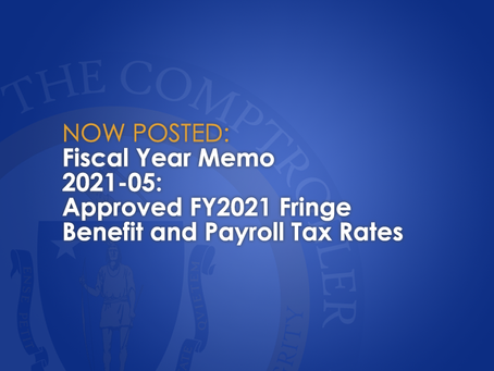FY2021-05: Approved FY2021 Fringe Benefit and Payroll Tax Rates