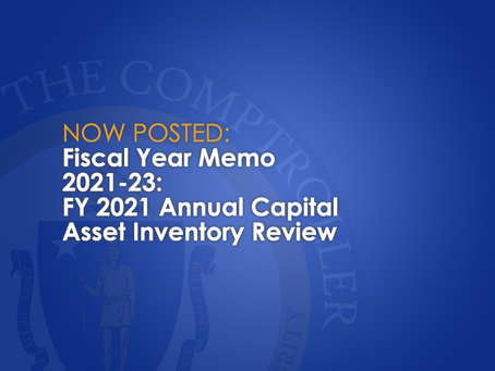 FY2021-23: FY 2021 Annual Capital Asset Inventory Review